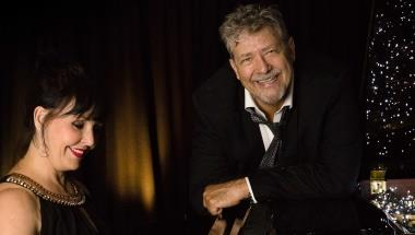 PHILIP QUAST WITH ANNE-MAREE MCDONALD AT THE PIANO
