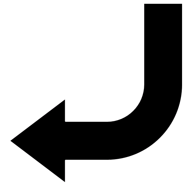 arrow pointing left