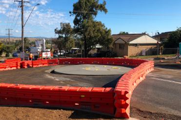 New roundabout at Hillvue Road and Garden Street almost complete